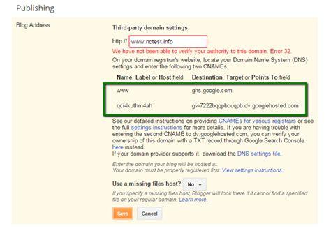 domain   blogger account domains