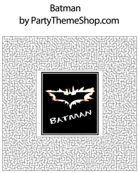 printable batman maze 17 best images about batman 5th birthday party ideas on