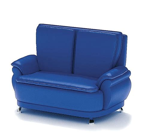 Leather Blue Sofa by Blue Leather Sofa 3d Model Cgtrader