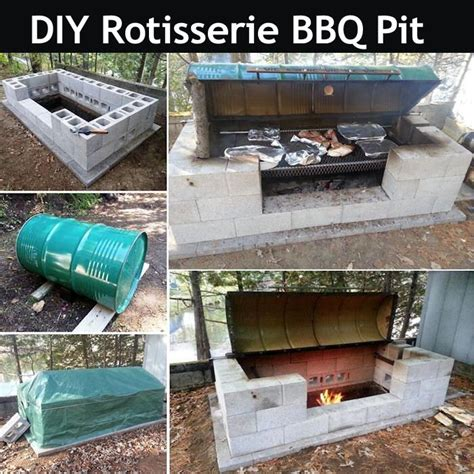 diy rotisserie bbq pit pictures photos and images for