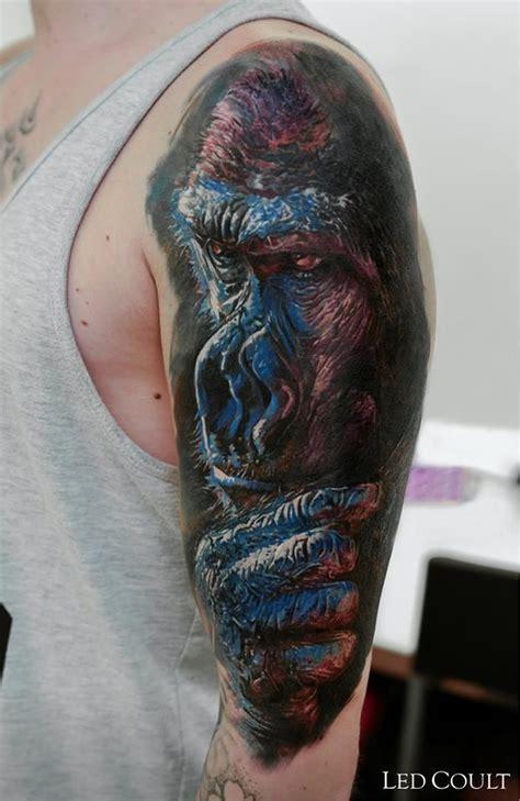 geometric gorilla tattoo 30 best images about tattoo on pinterest geometric