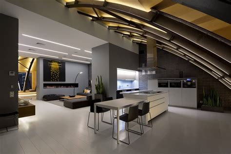 modern penthouses contemporary penthouse in kiev exhibits original arch