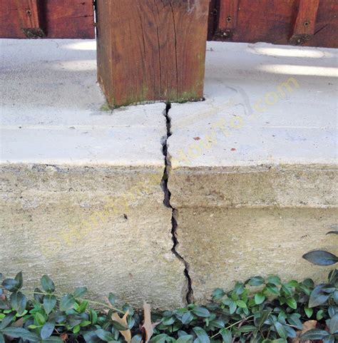 how to repair a cracked concrete patio