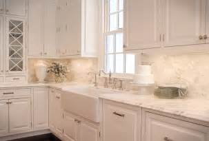 Kitchen Tile Backsplash Ideas With White Cabinets by Fabulous White Kitchen Design Ideas Marble Countertop Tile
