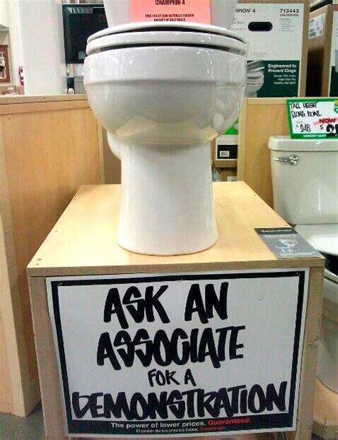 Funny Toilet Memes - toilet demonstration funny sign