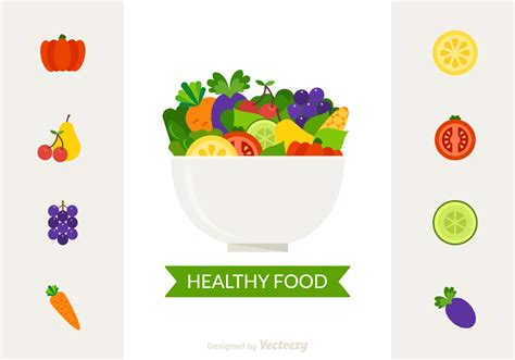 food vector bowl with healthy food vector free vector