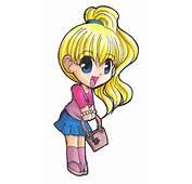 Chibi Anime Girl With Brown Hair Car Tuning