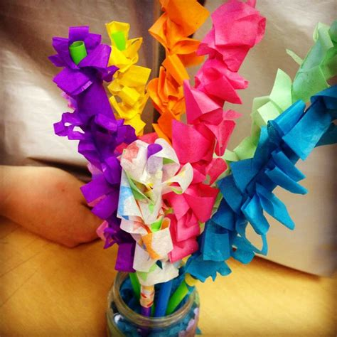 Tissue Paper Arts And Crafts - hyacinth tissue paper flowers projects for