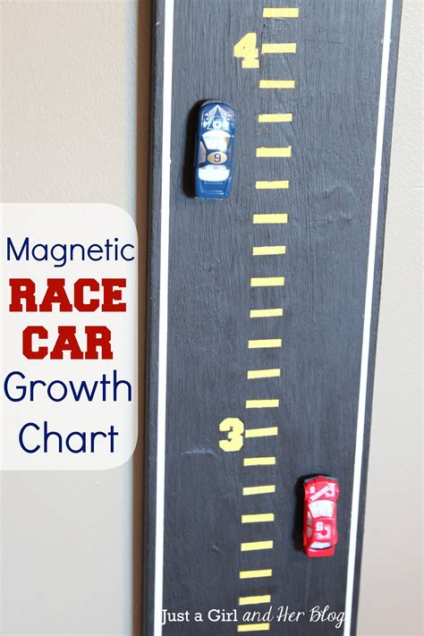 magnetic race car growth chart growth charts chart and cars