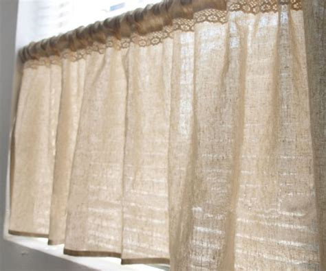 linen cafe curtains white 100 flax linen cafe curtain made to by 20centssupplies