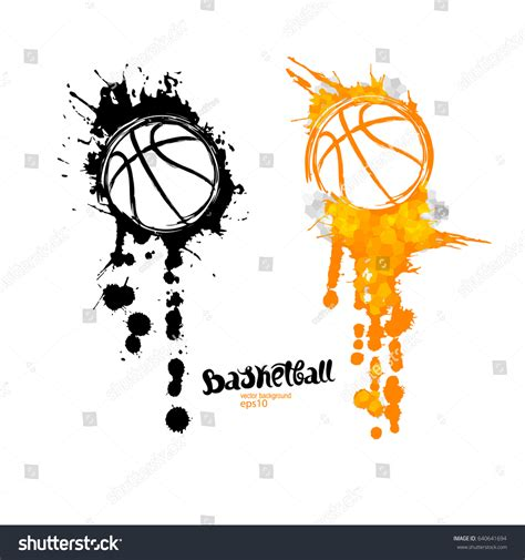 abstract background basketball symbol grunge ball stock