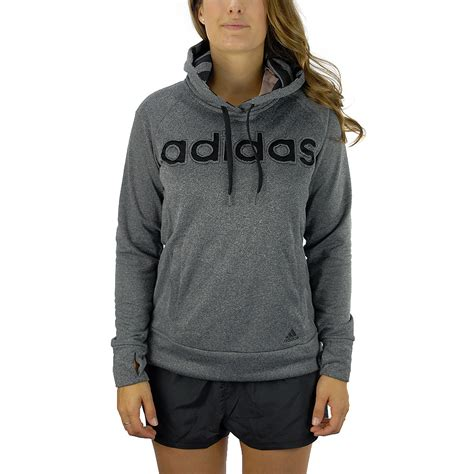 Hoodie Adidas Cover adidas women s ultimate logo hoodie grey climawarm