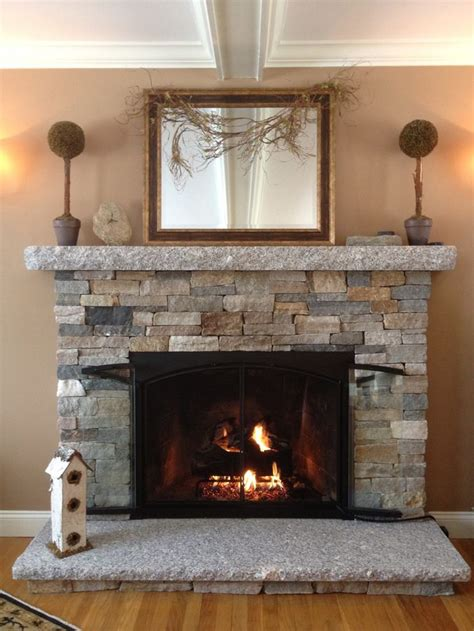 diy reface fireplace with tile 25 best ideas about stone veneer fireplace on