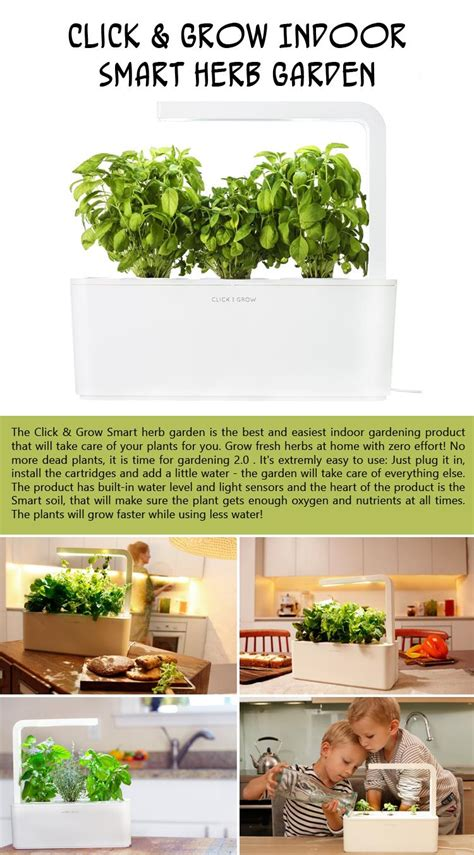 click and grow smart herb garden w l 3 refills basil 14 gift ideas for people who love to cook
