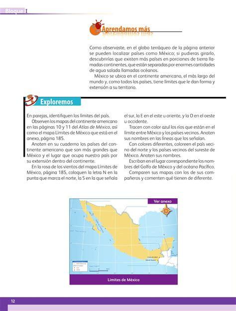 pagina 100 libro geografia quinto grado sep pagina 12 libro geografia 5to grado pagina 12 libro