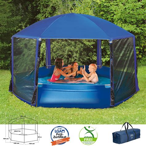 kinder pavillon planschbecken 216 260 mit dach pool pavillon kinder pool mit