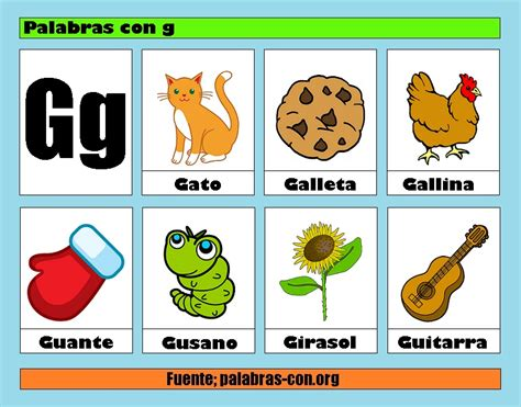 Imagenes Que Empiecen Con La Letra Gi | palabras con la letra g g ejemplos de palabras con g