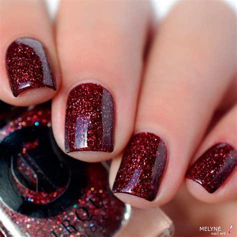 burgundy floral nail art ideas  styles art