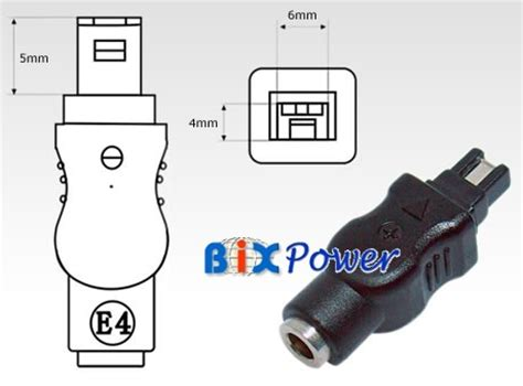 Dc Conector Sony e4 dc power connector tip special connector for sony camcorder with 4 0 x 1 7mm