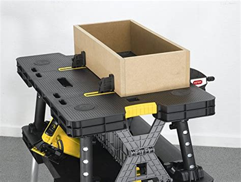 Keter Folding Compact Workbench Sawhorse Work Table With