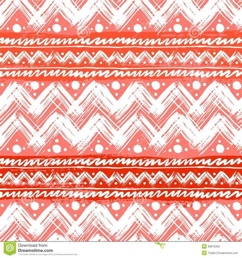zig zag pattern painting ethnic pattern painted with zigzag brushstrokes stock