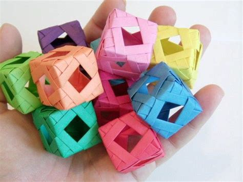 Origami Puzzle Box - window cube modular origami stables cubes and