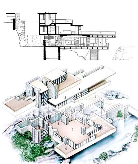 fallingwater floor plan best 25 falling water house ideas only on pinterest