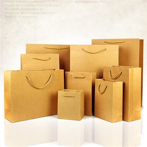 Folding Paper Bags - folding multi color kraft paper shopping bag for