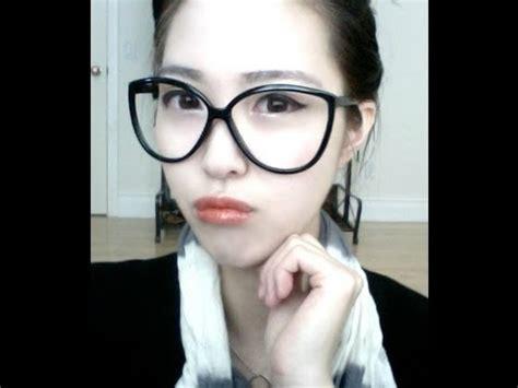 tutorial makeup ulzzang korean youtube korean ulzzang 얼짱 eyeglass makeup tutorial youtube