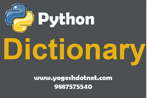 tutorial python dictionary dictionary in python tutorial