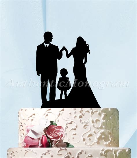 Rustic Wholesale Home Decor 6 Inch Silhouette Couple With Child Cake