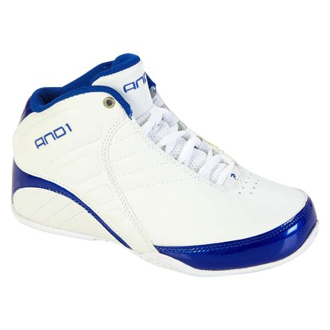 and1 slippers and1 boy s athletic basketball shoe rocket 3 0 mid white