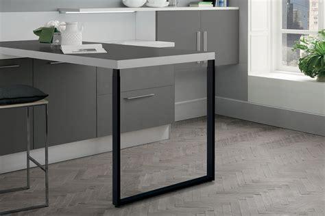 pied de plan de travail cuisine zdn prt639009 pied de table rectangulaire t 233 lescopique en acier coloris noir h 900 mm
