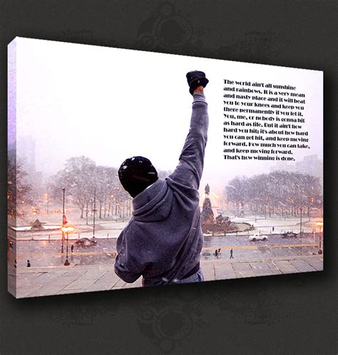 printable rocky quotes rocky quote boxing movie canvas print pop art modern