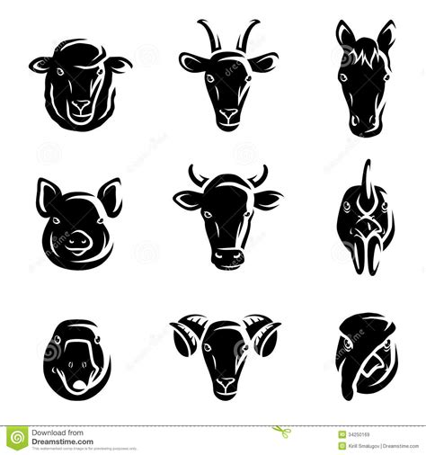 royalty free stock vector illustration models picture farm animals set vector stock vector illustration of feed 34250169