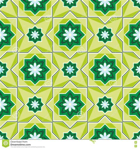 islamic pattern background green arabesque on a green background stock photo image of