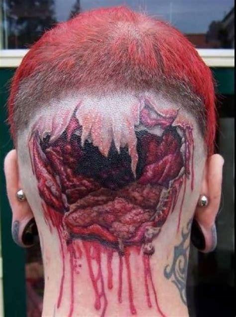 tattoo ink pulled out 3d ripped skin tattoos truetattoos