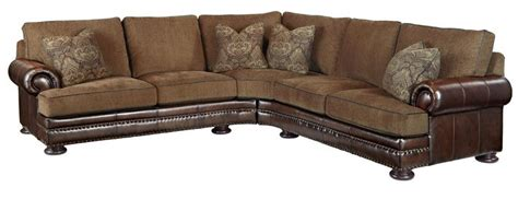 bernhardt foster fabric leather sectional 5192lco 5191lco furniture