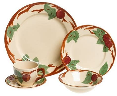 apple dishes best franciscan apple 20 dinnerware set deals