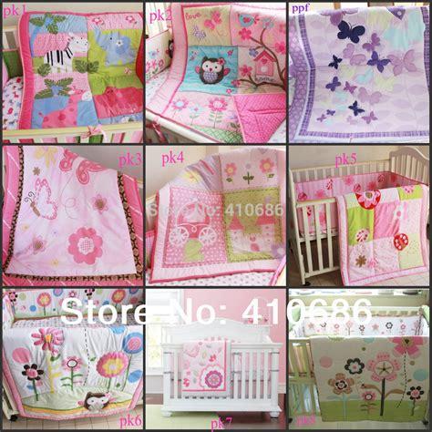 pink cot bedding sets pink purple colors baby cot crib bedding sets 3pcs