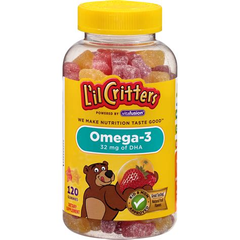 Healthy Omega 3 Gummies l il critters omega 3 gummy fish with dha 120 count bottles
