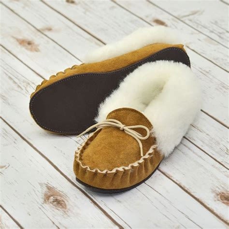 Handmade Sheepskin Slippers - traditional handmade sheepskin slippers