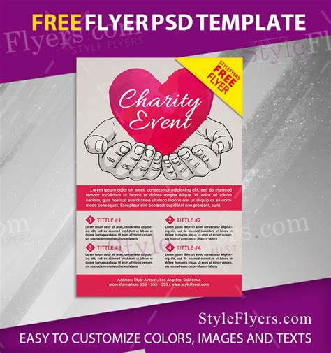 charity event flyer template 27 charity flyer templates free premium
