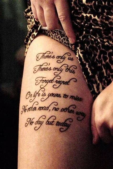 tattoo love one another lyrics from quot another day quot in rent i would love this