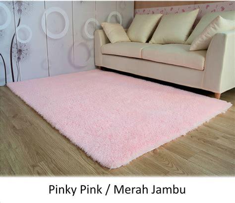 karpet bulu lembut pink carpet