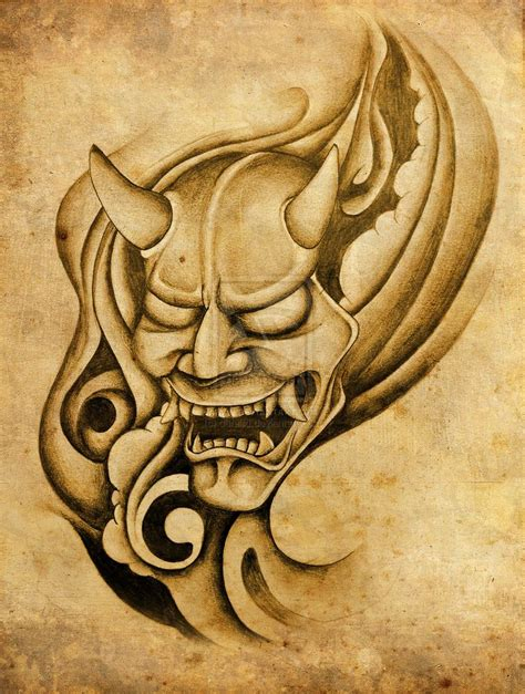 hannya mask tattoo design 160 best images about noh on traditional