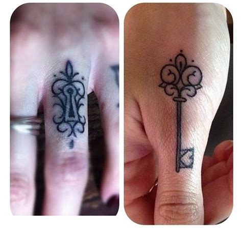 tattoo on pad of finger 1000 ideas about lock key tattoos on pinterest lace