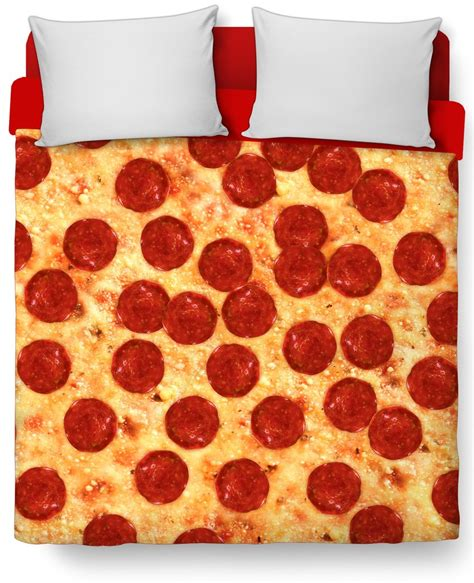 pizza comforter pizza bed duvet cover and pillow case combo