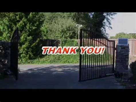 how to install swing gate opener how to install a swing gate opener youtube