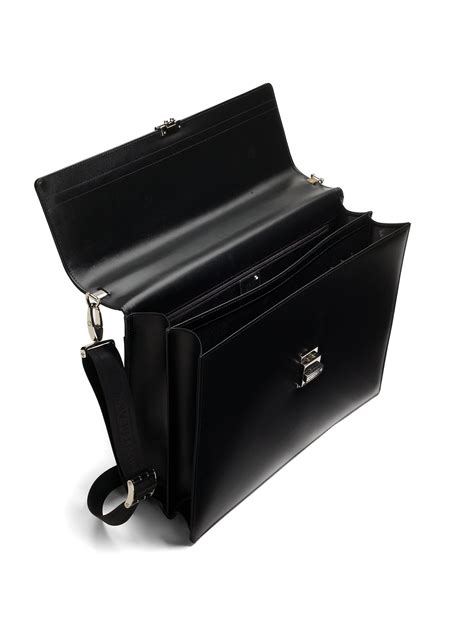 Bag Mont Blanc D9498 montblanc leather business bag in black for lyst